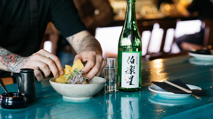 Pairing sake with food
