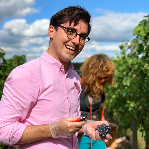 Tom in the vineyard!
