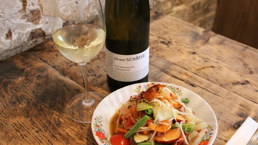 Joh Bapt Schafer Riesling Kabinett and Thai food