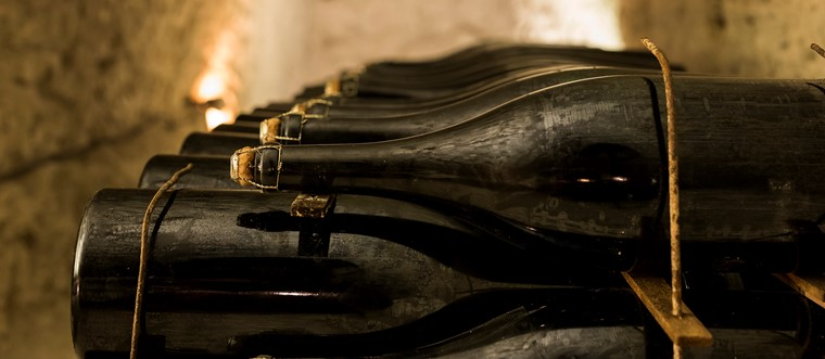 Magnums ageing in the Champagne Palmer cellars